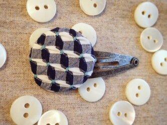 スモッキング刺繍くるみボタンのヘアピン SP-6の画像
