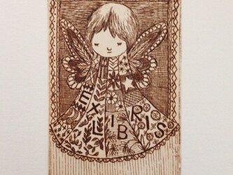 exlibris(蔵書票) 銅版画「小さい天使」の画像