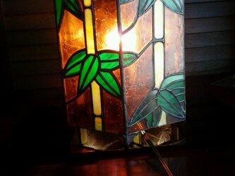 ステンドグラス ランプ 6角形の画像