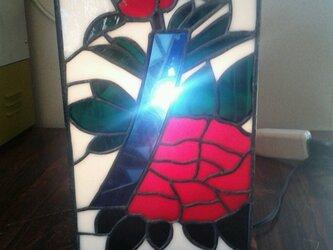 ステンドグラスランプ 花札の画像