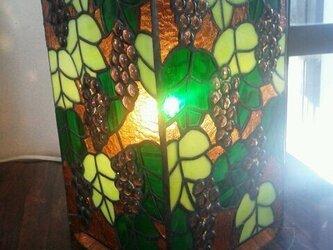 ステンドグラスランプ 葡萄の画像