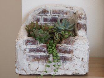 モルタル造形の植木鉢Aの画像