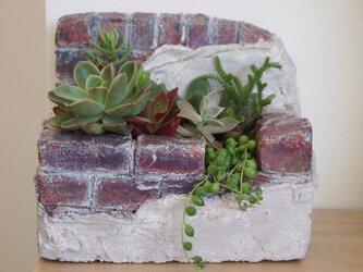モルタル造形の植木鉢Bの画像