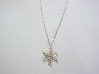 雪枝結晶のネックレスの画像