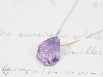K10◆雨に洗われ輝く紫陽花のように アメジスト原石ネックレスの画像