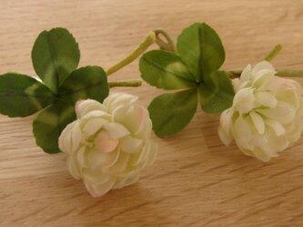 受注製作:四つ葉のクローバーのブローチの画像