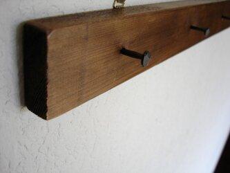 鉄釘のウォールフックの画像
