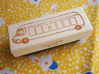 消しゴムはんこ「郵便番号 バス」の画像