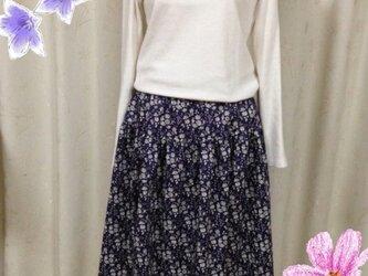 リバティ♪ギャザースカート(切り替えあり)の画像