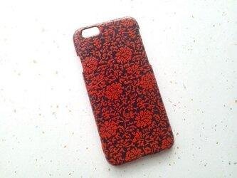 Wacon友禅和紙iPhone6カバー[鎌倉彫]薔薇の画像