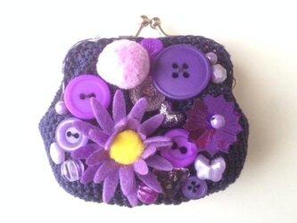 紫色のがまぐちの画像