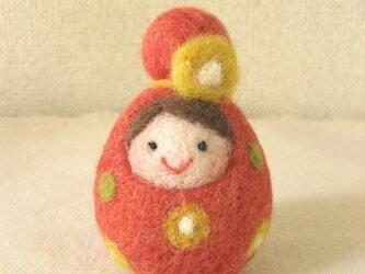 羊毛のマトリョーシカ(赤)の画像