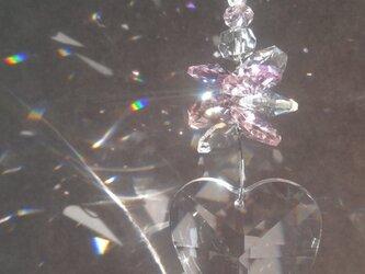 サンキャッチャー☀ ハート♡ ピンクの画像