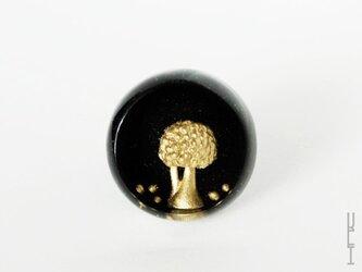 木リング : 円形 (黒)の画像