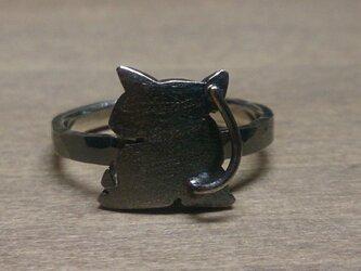 「なやましいよるの」まつくろけの猫(右向き尻尾)の画像