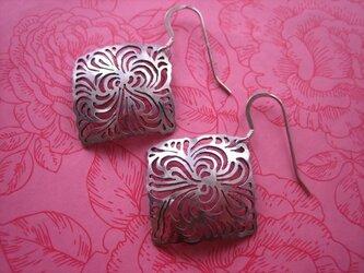 Mozaic Silver Earringsの画像
