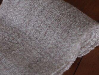 手紡ぎのマフラー(ベージュ)の画像