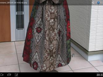 エレガントギャザースカート〔5〕裏付き t様、ご依頼品  一点品の画像