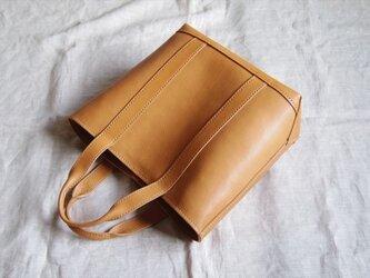 【受注生産】キャンバストートのような革バッグ(見返し付)の画像