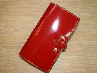 コードバン 手帳 赤の画像
