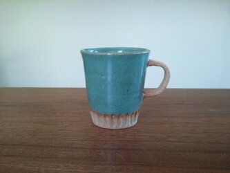丸 coffee cup blueの画像