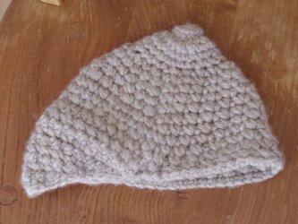 キッズ ニットキャスケット帽の画像