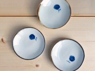 まめ皿 コバナ柄(青)の画像