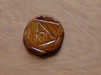 陶器のブローチ HANA  (ヘアゴム変更可)の画像
