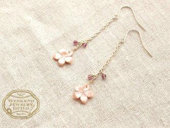 桜ロングピアス WJG_P011の画像