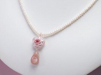 淡水パールネックレス 桜ペンダントの画像