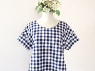 SIMPLE CHECK TOP (NAVY)の画像