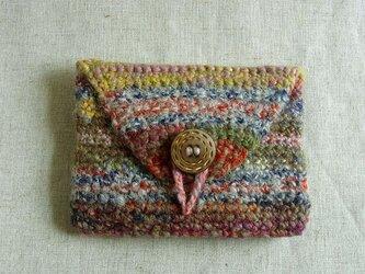 SALE 紡ぎ糸のポーチ  N-221の画像