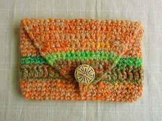 SALE 紡ぎ糸のポーチ  N-201の画像