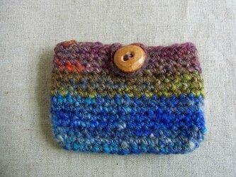 SALE 紡ぎ糸のミニポーチ  N-255の画像