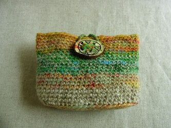 SALE 紡ぎ糸のオープンポーチ  N-234の画像