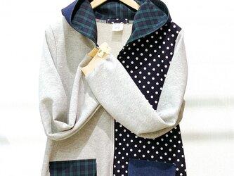 水玉mixフードパーカー♡の画像