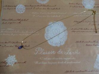スワロフスキーの一粒ネックレスの画像