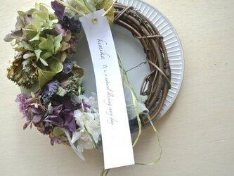 葉牡丹とレモンリーフのwreathの画像