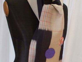アンティーク紗織りのストール 絹の画像
