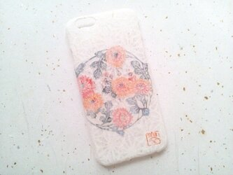 《受注製作》Wacon友禅和紙iPhone6/6sカバー[紅型茉莉花]の画像