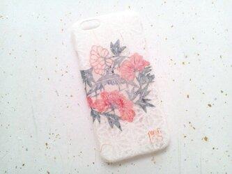 《受注製作》Wacon友禅和紙iPhone6/6sカバー[紅型牡丹]の画像