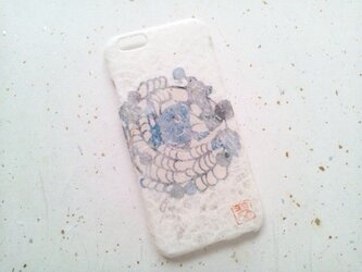 《受注製作》Wacon友禅和紙iPhone6/6sカバー[紅型鯉]の画像