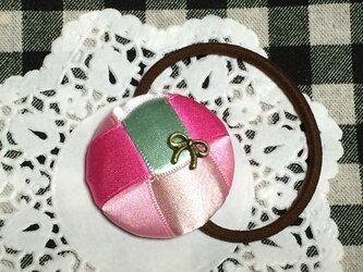 リボン編みの髪ゴム りぼん3の画像