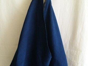 【sale】手織りのあずま袋ショルダーバッグ(藍)の画像