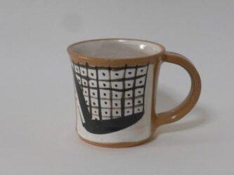 白化粧鉄絵マグカップの画像