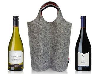piu フェルト ワインバッグ 2ボトルの画像