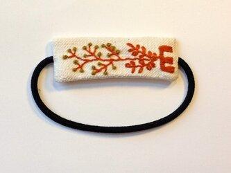 刺繍ヘアゴム・Eの画像