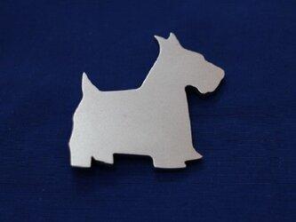 テリア犬 SILVER925 ブローチの画像