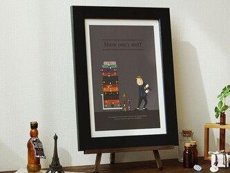アート ポスター 絵画 「腕の見せどころ」おしゃれなイラストの画像