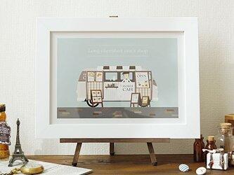 アート ポスター 絵画「夢のマイショップ」おしゃれなイラストの画像